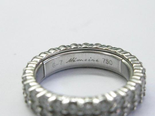 Other 18Kt Round Cut Diamond 2-Row White Gold Eternity Band Ring 2.70CT