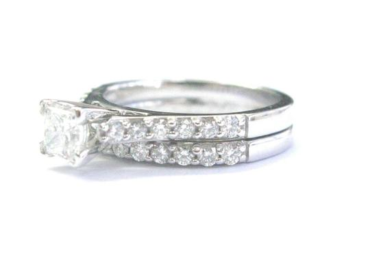 Other 18Kt Princess & Round Cut Diamond Engagement White Gold Set 1.20Ct