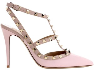 Valentino Spike Studs Rockstuds Nude Waterose Powder Pink Pumps