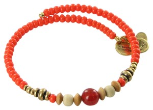Alex and Ani Canyon Wrap Sunrise Orange Expandable Bracelet Russian Gold