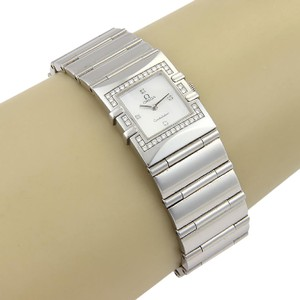 Omega Omega Stainless Quadra Constellation MOP Diamond Ladies Watch