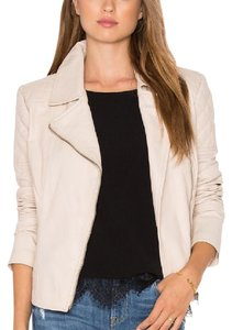 cupcakes and cashmere bone Leather Jacket