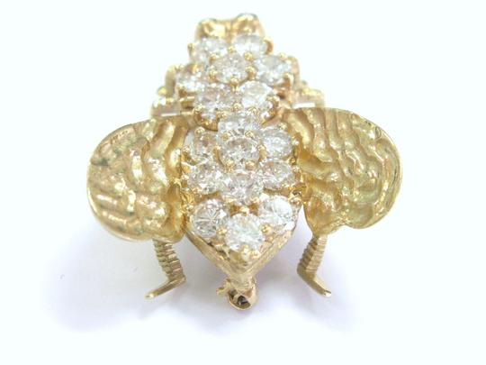Other Fine Diamond Bee Pin / Brooch 14KT Yellow Gold 4.00Ct