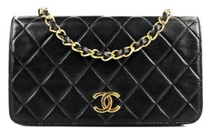Chanel Lambskin Vintage Flap Quilted Classic Flap Shoulder Bag