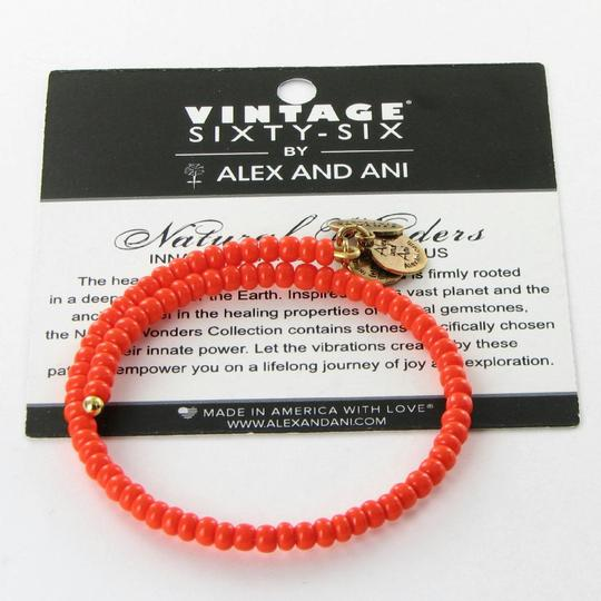 Alex and Ani Canopy Wrap Sunrise Orange Expandable Bracelet Russian Gold