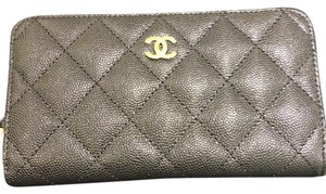 Chanel 2017 Gold HW Chanel Classic Zip Around Wallet