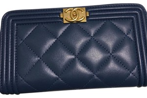 Chanel 2017 BN Chanel Boy Wallet with Gold HDW