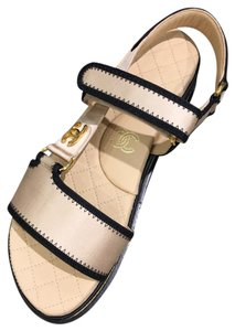 Chanel Satin Beige Sandals