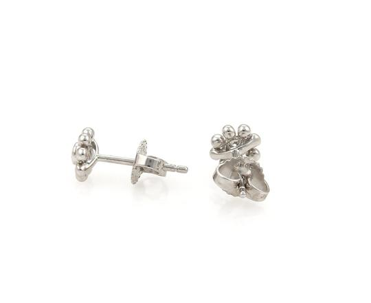 Tiffany Amp Co White Gold Diamond Floral Stud Earrings