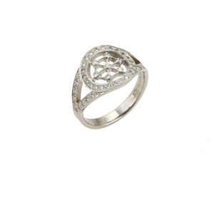 Tiffany & Co. Voile Diamond Platinum Circle Ring