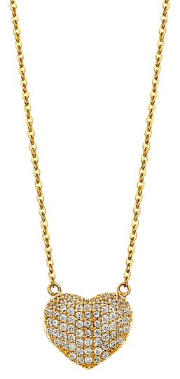 Preload https://img-static.tradesy.com/item/21024824/yellow-gold-14k-micro-pave-cz-puff-necklace-0-1-540-540.jpg