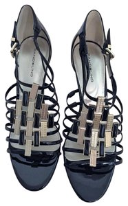Bandolino Black Patent Leather with Gold Accent Formal