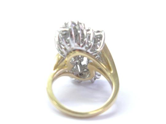 Other Fine Round Cut Diamond Cluster Yellow Gold Jewelry Ring 30-Stones 14Kt