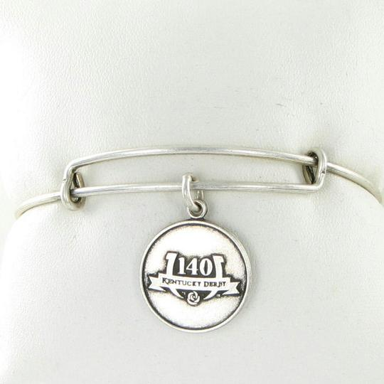 Alex and Ani 140th Kentucky Derby Logo Charm EWB Bracelet Russian Silver