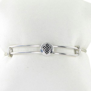 Alex and Ani Sacred Studs Endless Knot EWB Expandable Bracelet Silver