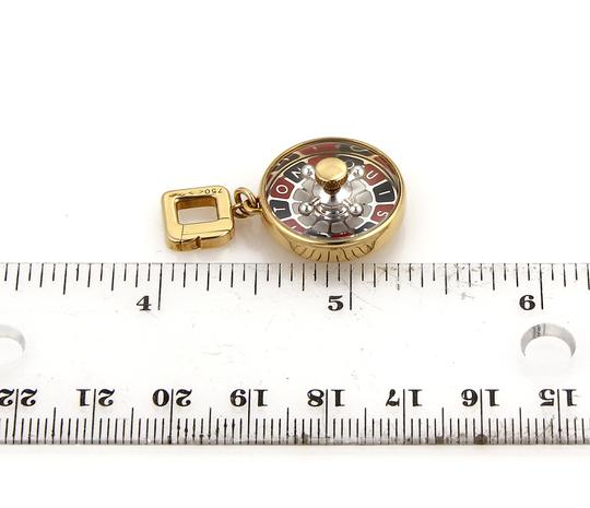 Louis Vuitton Roulette Game Wheel Round Pendant in 18k Gold