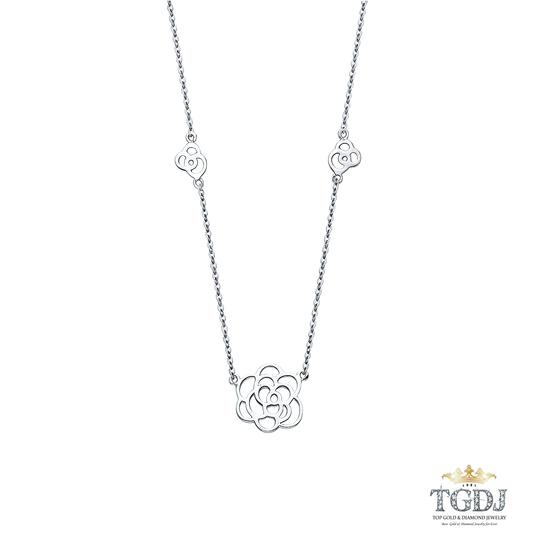 Top Gold & Diamond Jewelry 14K White Gold Necklace - Top Gold & Diamond Jewelry