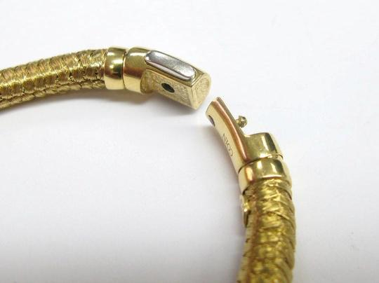 Roberto Coin Roberto Coin 18Kt Woven Diamond Bar Bracelet Yellow Gold .60Ct