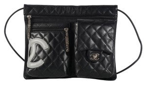Chanel Cambon Leather Flap Ch.l0125.01 Quilted Cc Cross Body Bag