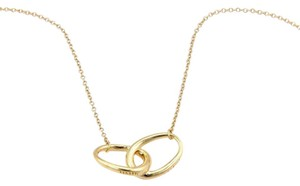 Tiffany & Co. Tiffany & Co. Peretti 18K Yellow Gold Double Oval Ring Pendant Necklac