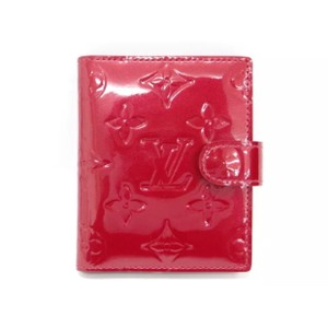 Louis Vuitton red vernis patent leather monogram ID card wallet case holder