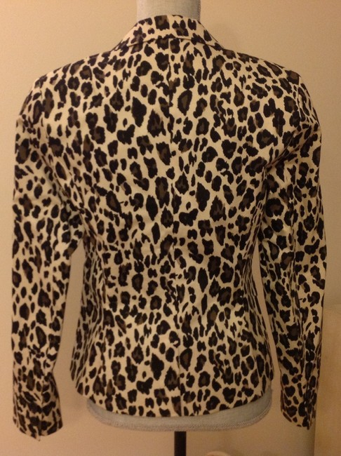 Banana Republic Size 6 Casual Or Dressy Lined Cotton Leopard Blazer