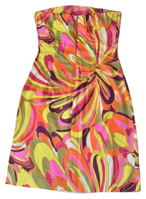 Preload https://img-static.tradesy.com/item/21025011/milly-strapless-colorful-mod-retro-mid-length-short-casual-dress-size-2-xs-0-2-650-650.jpg