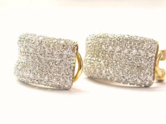 Other 18Kt Round Cut Diamond Huggie Earrings Yellow Gold 3.00CT 3/4