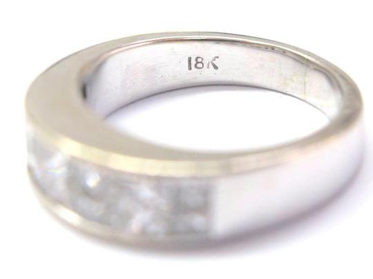 Other Fine 18KT Princess Cut Diamond White Gold Band Ring 2.30CT