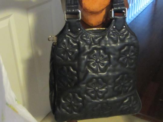 Marc by Marc Jacobs ** Zipper Tab Leather Flowers Shoulder Bag