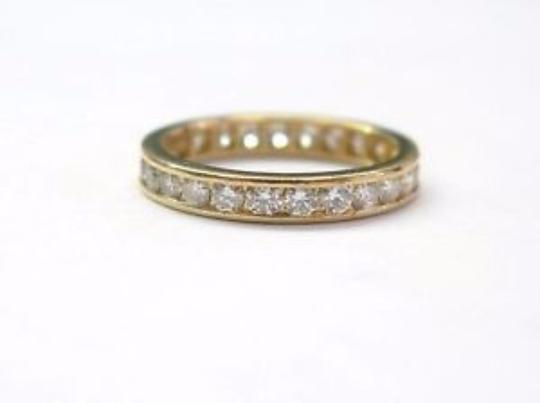 Tiffany & Co. Tiffany & Co 18Kt Diamond Channel Set Eternity Band Yellow Gold Size 5