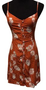 Abercrombie & Fitch short dress rust w Hawaiian flowers on Tradesy