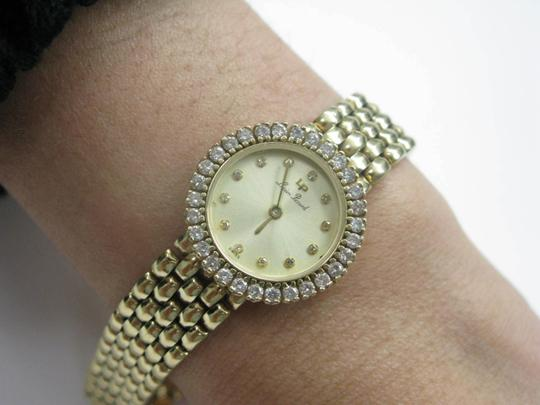 Lucien Piccard Lucien Piccard Circular Diamond Wristwatch .96Ct Yellow Gold 14KT