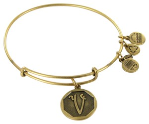Alex and Ani Bracelet A13EB14VG Octagon Initial V Expandable Russian Gold
