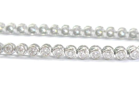 Other 18Kt Round & Baguette Diamond Bezel Set White Gold Bracelet 2.20Ct 7.5