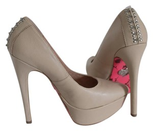 Betsey Johnson Cream Platforms