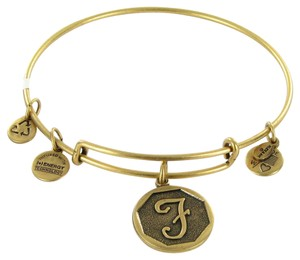 "Alex and Ani Bracelet A13EB14FG Octagon Initial ""F"" Expandable EWB Russian Gold"