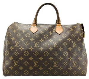 Louis Vuitton Doctor Bowling Canvas Leather Vachetta Satchel in Brown and Tan