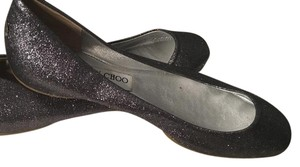 Jimmy Choo Dressy No Wear Perfect For Weddings Trendy Classic Metallic, Silver Flats
