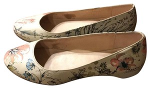 Camper Floral Comfortable Nude with blue, pink, and green accents Flats