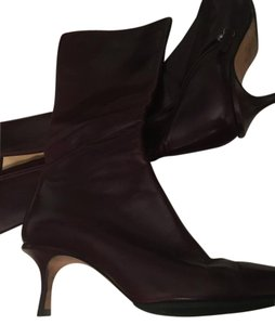 Jimmy Choo Spring Mint Condition Low Cut Classic Wine/Burgundy Boots