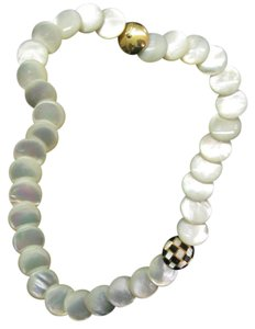 Tiffany & Co. Tiffany & Co 18Kt Mother of Pearl Onyx Yellow Gold Necklace 18