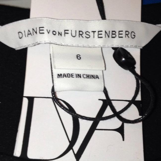 Diane von Furstenberg Sleeveless Print Side Wrap Tie V-neck Dress