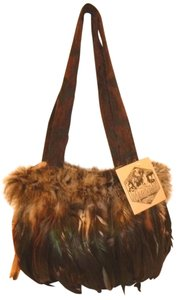 Artifact Nwt Tapestry Feathers Lined Shoulder Bag