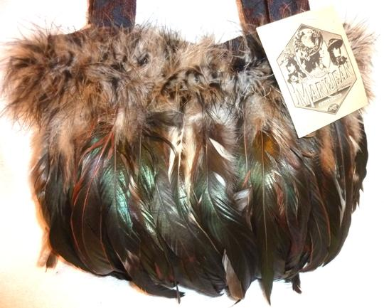 Artifact Tapestry Feathers Lined Shoulder Bag