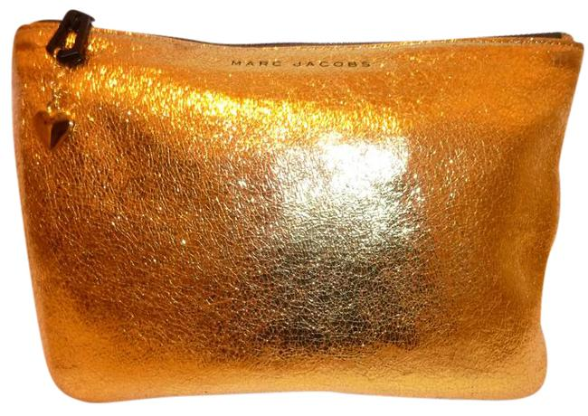 Item - Gold Nwot Leather Cosmetic Bag