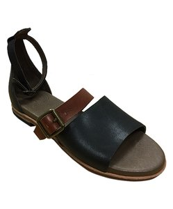Gee WaWa Leather Festival Blk Cognac Sandals