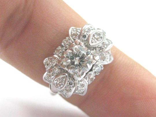 Other 18Kt Vintage Miracle Old European Cut Diamond Solitaire Engagement Rin