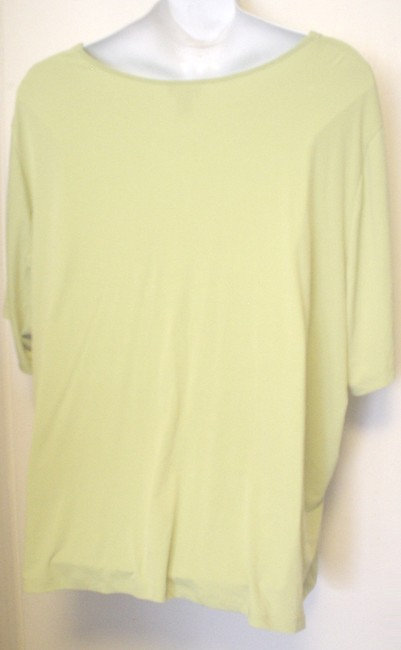 Maggie Barnes Spring Catherines Short Sleeve Shirt Lime Top Green