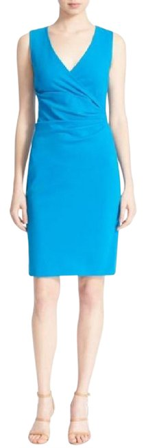 Preload https://img-static.tradesy.com/item/21025643/diane-von-furstenberg-atlantis-blue-layne-ruched-knit-sheath-sleeveless-short-cocktail-dress-size-12-0-2-650-650.jpg